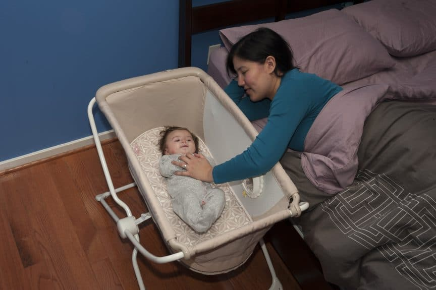 Bassinet with mom