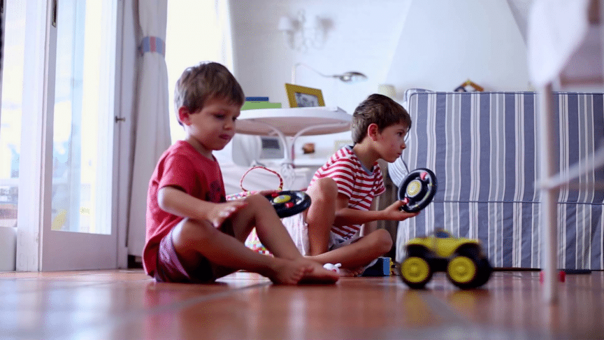 kids playing with remote control